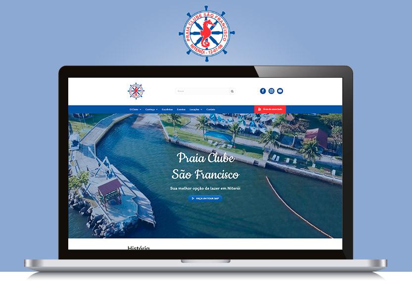 Lançamento do site do Praia Clube São Francisco 1