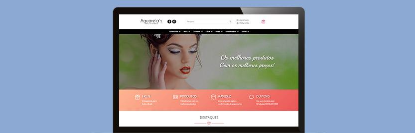 Lançamento Loja Virtual Aquarela's Make Up & Cosméticos 4